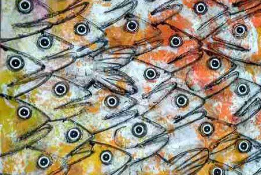 Voiles peintes-des-poissons