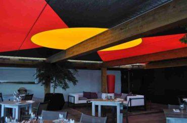 beach hotel -les pecheurs- juan les pins antibes-restaurant plage-plafond tendu 10